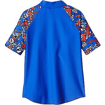 Speedo Boys Infants Childrens Swimming Swim Essentials Suntop Rash Top - Blue