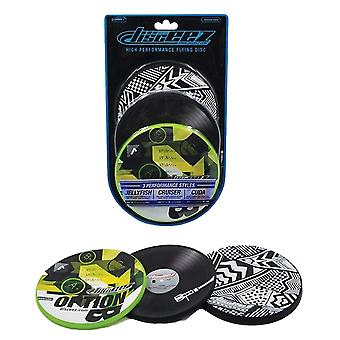 Disceez High Performance Flying DIC, 13cm, valikoitu (3 kpl), vihreä