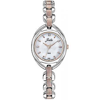 Certus 634090 klocka-JOALIA oval Steel BicolorE Silver Silver Dor Rose kvinnor