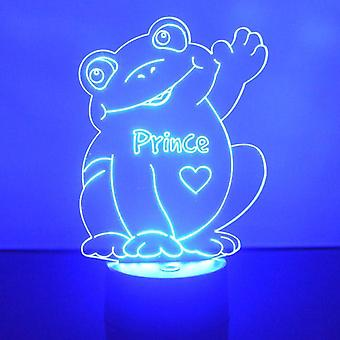 Waving Happy Frog Colour Changing LED Acrylic Light