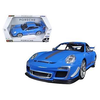 Porsche 911 Gt3 Rs 4.0 Azul 1/18 Modelo de coche fundido por Bburago