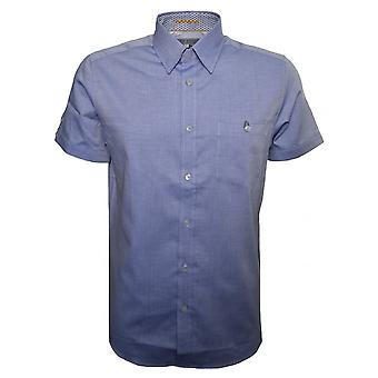 Ted Baker Herren kurzarm blau Wooey Hemd