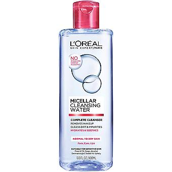 L'Oreal Paris Micellar Cleansing Water, for Normal to Dry Skin, 400 ml