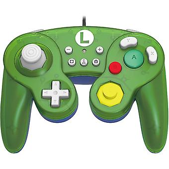 Hori Battle Pad GameCube Style Controller Luigi For Nintendo Switch
