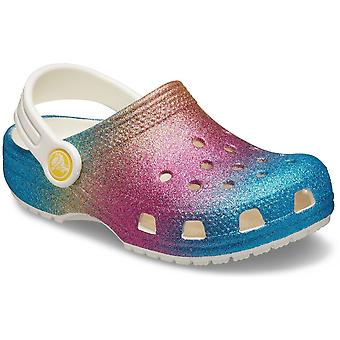 Crocs Girls Ombre Glitter Classic Sling Back Summer Clogs