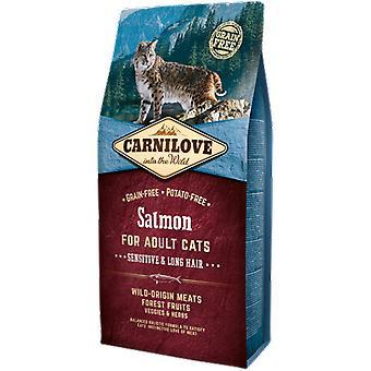 Carnilove Kattenvoer Naturel voor gevoelige katten met lang haar zalm