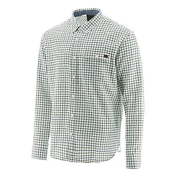 Caterpillar Mens Tattersall Long Sleeve Button Down Shirt