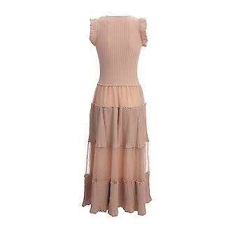 Red Valentino Tr0kdb54530377 Women's Nude Cotton Dress