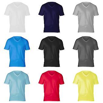 Gildan Adults Unisex Short Sleeve Premium Cotton V-Neck T-Shirt