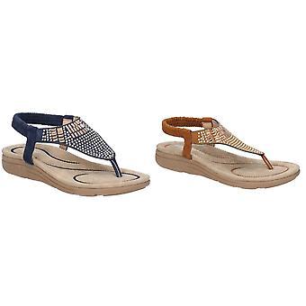 Fleet & Foster Womens/damer Mulberry elastisk läder sandal