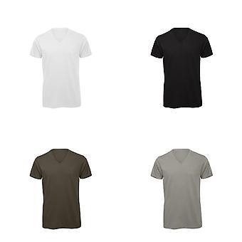 B & C Mens préféré coton bio manches courtes v-Neck T-Shirt