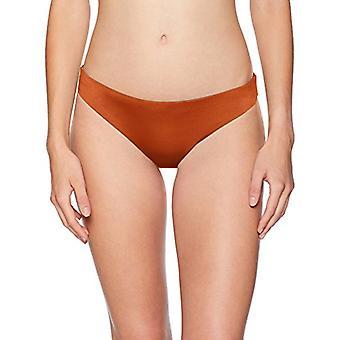 Bikini Lab Junior's Cinched Back Hipster Bikini Swimsuit Bottom, Sienna, Large