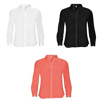 SOLS Womens/Ladies Betty Long Sleeve Blouse/Shirt