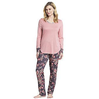 1193527-16401 Femmes-apos;s New Romance Pink Floral Cotton Pyjama Set