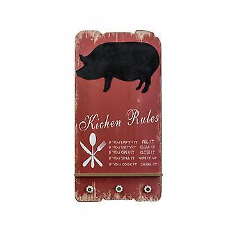 Rebecca huone kalut merkki Blackboard puu seinään musta punainen keittiö säännöt keittiö