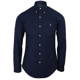Ralph lauren men's navy poplin shirt