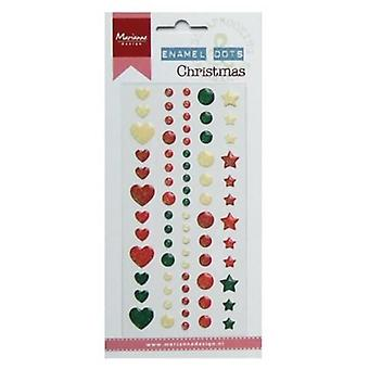 Marianne Design Decoration Enamel dots - Christmas PL4509