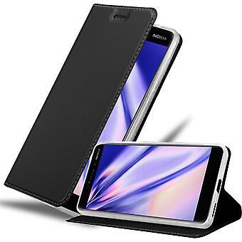 Futerał Cadorabo do obudowy Nokia 6.1 2018 - futerał na telefon z magnetycznym zapięciem, funkcją stojaka i komorą na kartę - Obudowa ochronna Case Book Folding Style