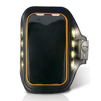 """Športový náramok s LED ksix 4 """"Black Neoprene"""