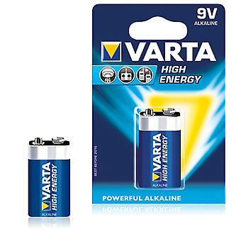 Alkaline Battery Varta 6LR61 9 V 580 mAh High Energy Blue