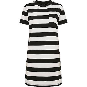 Urban Classics Damen Sweatkleid Stripe Boxy