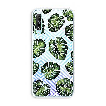 Huawei P Smart Pro Transparent Case (Soft) - Jungle géométrique