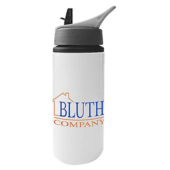 Arrested Development Bluth Company Logo Aluminium Water Bottle With Straw
