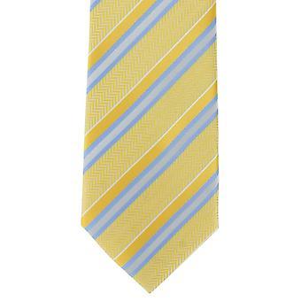 Michelsons of London mintás csíkos poliészter tie-sárga