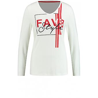 Taifun Red Front Design Jersey Top