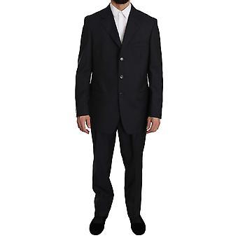 Z ZEGNA Blue Two Piece 3 Button Wool Silk Suit -- KOS1941488
