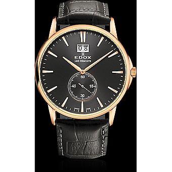Edox Watches Les Bémonts Men's Watch Big Date 64012 37R NIR