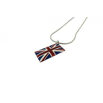 Union Jack Wear U J Enamel Necklace