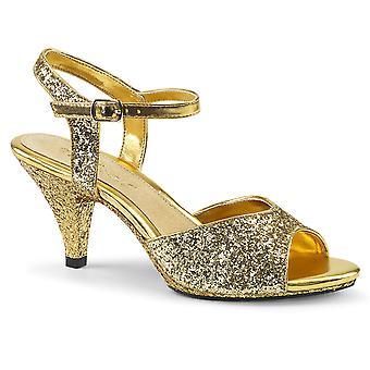Fabulicious Frauen's Schuhe BELLE-309G Gold Glitter/Gold Glitter