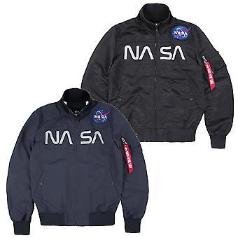 Alpha Industries Herren Blouson NASA Jacket Flight Nylon