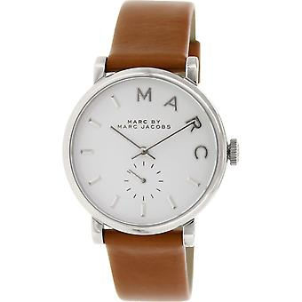 Marc Jacobs MBM1265 Baker Silver-Tone Stainless Steel with Brown Leather Band Ladies Watch