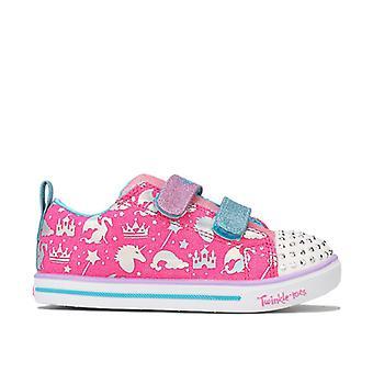 Girl's Skechers Infant Sparkle Lite Sparkleland Trainers in Pink
