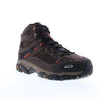 Hi-Tec Explorer WP Steel Toe Mens Brown Suede Lace Up Work Boots