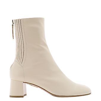 Aquazzura Shomidb0napcrm Women's Bege Leather Ankle Boots