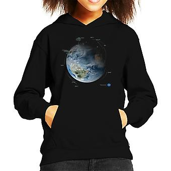 Sudadera con capucha NASA satélite órbita caminos niños