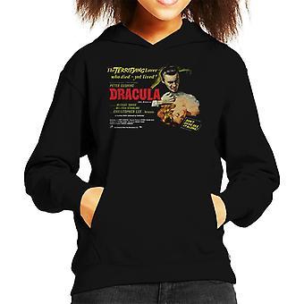 Hammer Horror films Dracula angstaanjagende minnaar Kid ' s Hooded Sweatshirt