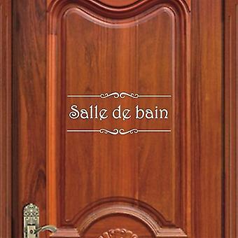 Francuska łazienka Toalety Vinyl Naklejka ścienna - Naklejka drzwi toaletowe Naklejka Mural Naklejki