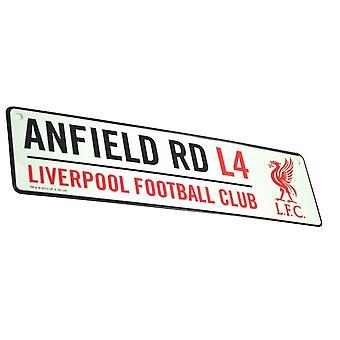 ليفربول FC الرسمية لكرة القدم 3D تنقش المعادن شنقا شارع علامة