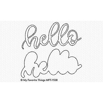 Mis cosas favoritas Sweet Hello Die-namics