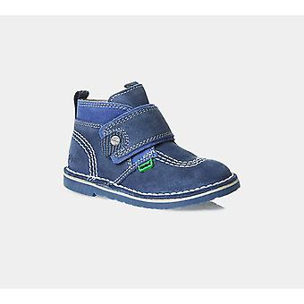 Kickers Adlar Strap Suede Infant 113255 Dk Blue/Blue Shoes Boots