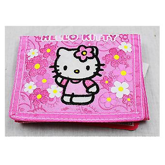 Trifold Wallet - Hello Kitty - Flowers Pink - Licensed - 82588