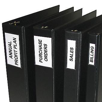 70025BNDL5PK, Self-Adhesive Binder Labels, 2-3 Inch Binders, 1 3/4 x 3 1/4, 12/PK (Set of 5 PK)