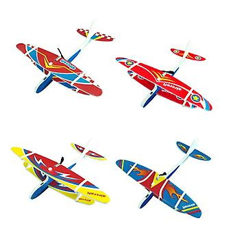 Electric Airplane Hand Launch - Throwing Glider Aircraft Model Outdoor Kids Educational Toy