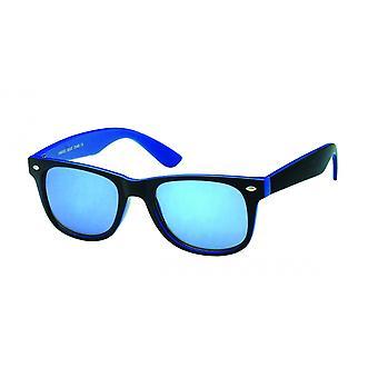Solglasögon Unisex Wayfarer blå/svart (20-188)