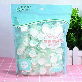 100pc/pask Compressed Face Mask Paper - Disposable Facial Masks Paper , Natural