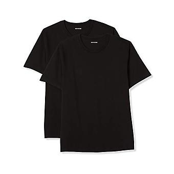 Essentials Men's Big-Tall 2-Pack Short-Sleeve Crewneck T-Shirt Shirt, -Black, 4XLT